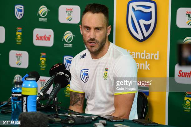 Faf du Plessis of the Proteas during day 5 of the 1st Sunfoil Test match between South Africa and Australia at Sahara Stadium Kingsmead on March 05...