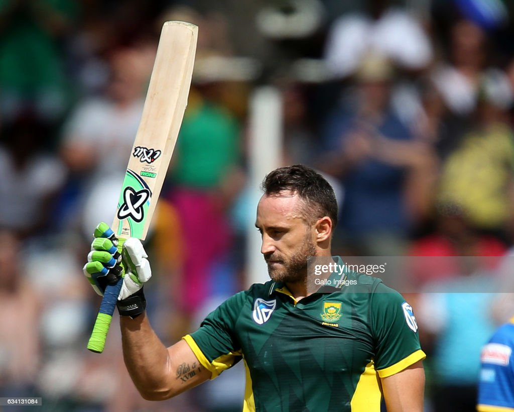 Faf du Plessis of the Proteas during the 4th ODI between South Africa and Sri Lanka at PPC Newlands on February 07, 2017 in Cape Town, South Africa.