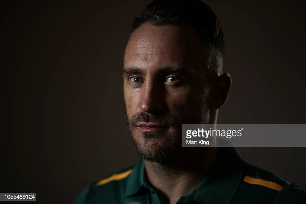 Faf du Plessis poses during the South Africa ODI / T20 headshots session on October 30 2018 in Canberra Australia