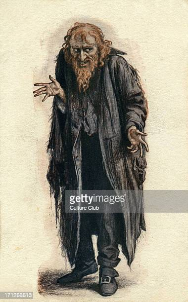 Fagin from Charles Dickens's 'Oliver Twist' Nineteenth century advertisement for Beerbohm Tree's production CD English novelist 7 February 1812 – 9...