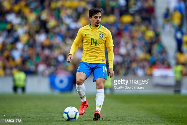 Fagner Conserva Lemos of Brazil in action during the International Friendly match between Brazil and Panama at Estadio do Dragao on March 23 2019 in...