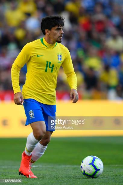 Fagner Lemos of Brazil in action during the international friendly match between Brazil and Panama at Estadio do Dragao on March 23 2019 in Porto...