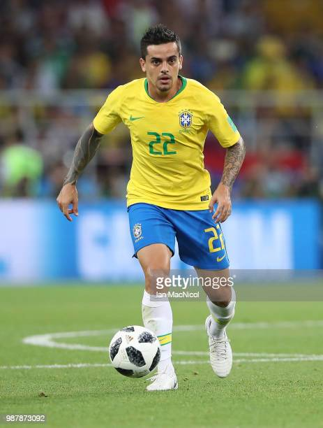 Fagner of Brazil is seen during the 2018 FIFA World Cup Russia group E match between Serbia and Brazil at Spartak Stadium on June 27 2018 in Moscow...