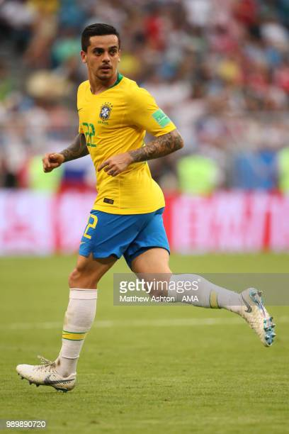 Fagner of Brazil o in action during the 2018 FIFA World Cup Russia Round of 16 match between Brazil and Mexico at Samara Arena on July 2 2018 in...