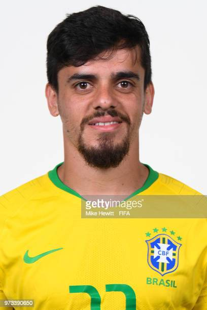 Fagner of Brazil poses for a portrait during the official FIFA World Cup 2018 portrait session at the Brazil Team Camp on June 12 2018 in Sochi Russia