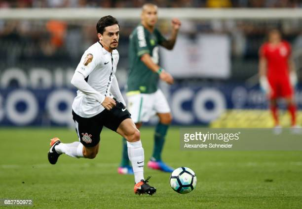Fagner of Corinthians in action during the match between Corinthians and Chapecoense for the Brasileirao Series A 2017 at Arena Corinthians stadium...
