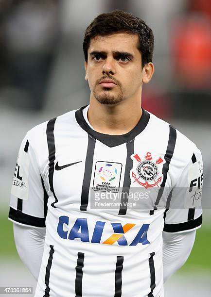 Fagner of Corinthians poses during a match between between Corinthians and Guarani as part of round of sixteen of Copa Bridgestone Libertadores 2015...