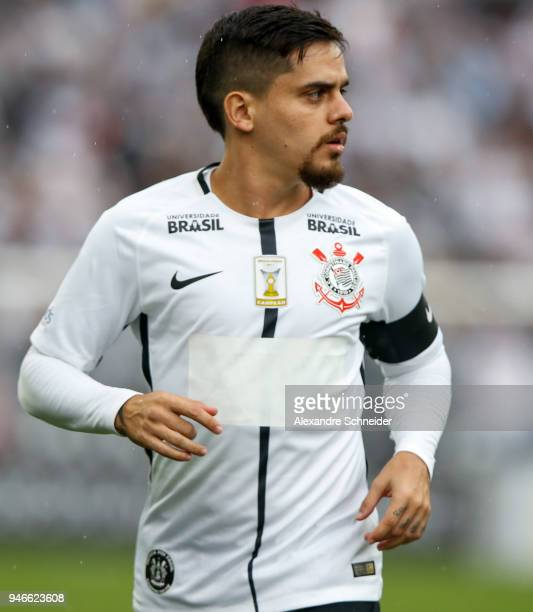 Fagner of Corinthinas in action during the match against Fluminense for the Brasileirao Series A 2018 at Arena Corinthians Stadium on April 15 2018...