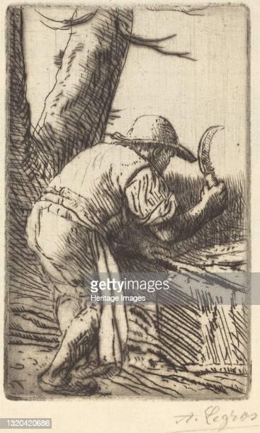 Fagot-cutter . Artist Alphonse Legros.