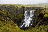 Fagrifoss in Laki, near the Lakagígar region, Southeast Iceland