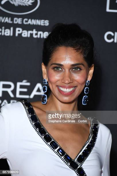 Fagun Thakrar attends Gala 20th Birthday of L'Oreal In Cannes during the 70th annual Cannes Film Festival at Martinez Hotel on May 24 2017 in Cannes...