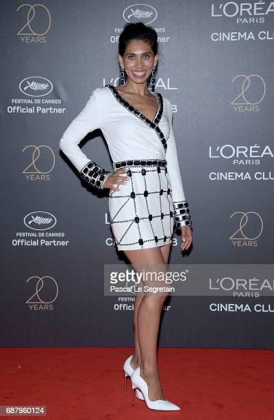 Fagun Thakrar attends the Gala 20th Birthday Of L'Oreal In Cannes during the 70th annual Cannes Film Festival at Martinez Hotel on May 24 2017 in...