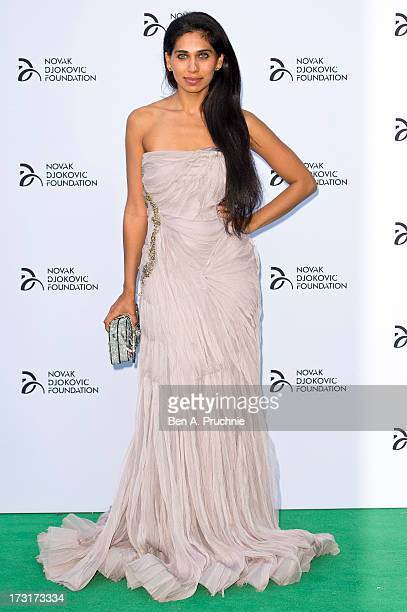 Fagun Thakrar attends the Novak Djokovic Foundation London gala dinner at The Roundhouse on July 8 2013 in London England