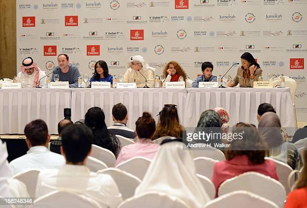 Fahad al Sukait Gerhard Meixner director Haifaa Al Mansour Artistic Director of DIFF Masoud Amralla Al Ali and actors Waad Mohammed and Abdulrahman...