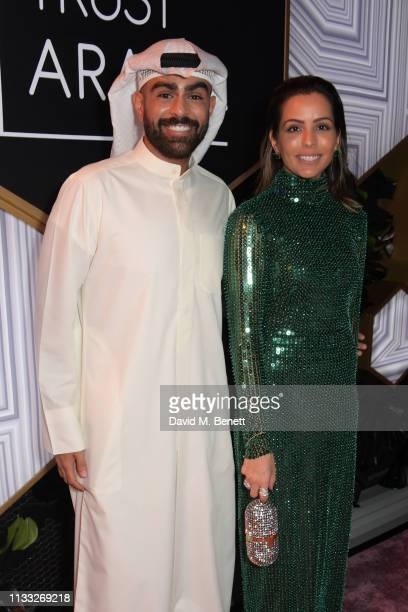Fahad AlMarzook and Shouq AlMarzook attend the Fashion Trust Arabia Prize awards ceremony on March 28 2019 in Doha Qatar