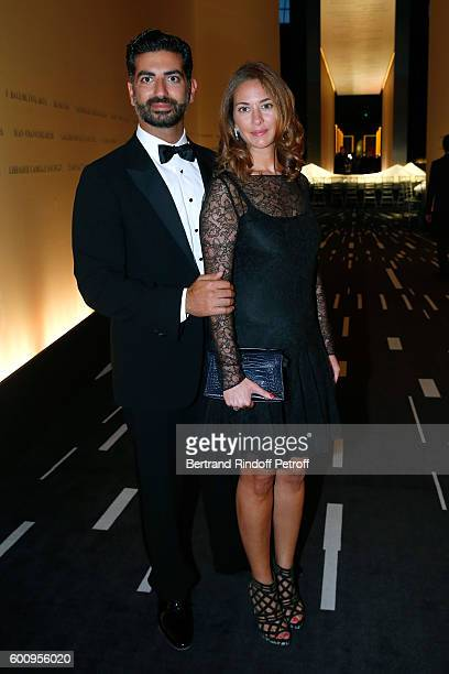 Fahad Hariri and his wife Maya Hariri attend the 28th Biennale des Antiquaires PreOpening at Grand Palais on September 8 2016 in Paris France