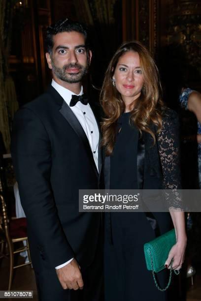 Fahad Hariri and his wife Maya Hariri attend the Opening Season Gala Ballet of Opera National de Paris Held at Opera Garnier on September 21 2017 in...