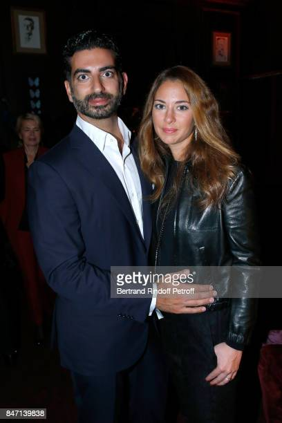 Fahad Hariri and his wife Maya Hariri attend the Reopening of the Hotel Barriere Le Fouquet's Paris decorated by Jacques Garcia at Hotel Barriere Le...