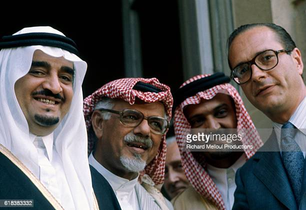 Fahd bin Abdul Aziz Crown Prince of Saudi Arabia meets French Prime Minister Jacques Chirac