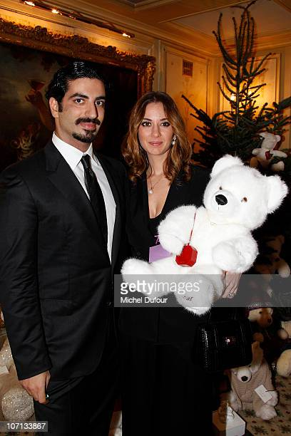 Fahd Hariri and his wife attend the Action Innocence auction and dinner of 'Nounours de Createurs' at Pavillon Ledoyen on November 24 2010 in Paris...