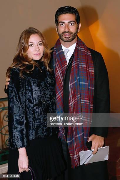 Fahd Hariri and his wife Maya Hariri attend the Giambattista Valli show as part of Paris Fashion Week Haute Couture Spring/Summer 2014 on January 20...