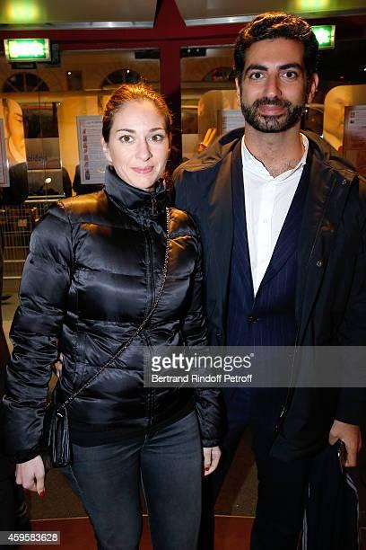 Fahd Hariri and his wife Maya Hariri attend the 'La French' Paris Premiere Held at Cinema Gaumont Capucine on November 25 2014 in Paris France