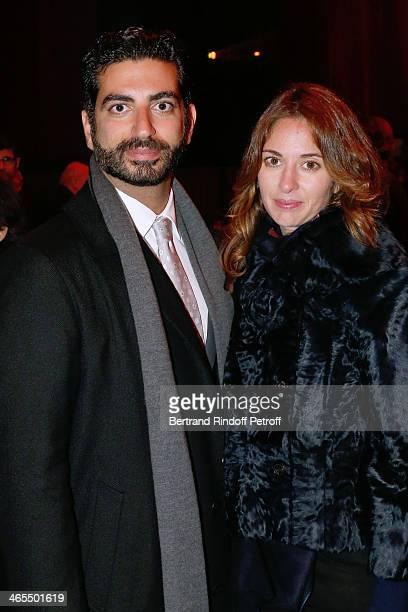 Fahd Hariri and his wife Maya Hariri attend the 'Nuit De La Chine' Opening Night at Grand Palais on January 27 2014 in Paris France