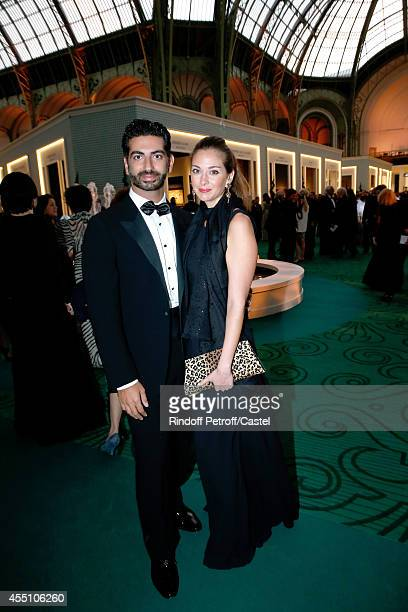 Fahed Hariri and his wife attend the 27th 'Biennale des Antiquaires' Pre Opening at Le Grand Palais on September 9 2014 in Paris France