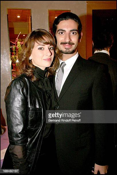 Fahed Hariri and his wife Maya Opening of the luxury hotel Fouquet's Barriere on the Champs Elysees in Paris