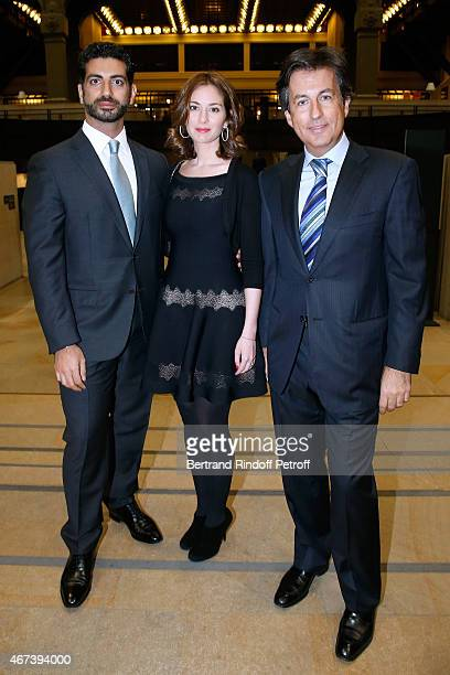 Fahed Hariri his wife Maya and Cyril Karaoglan attend the 'Societe des Amis du Musee D'Orsay' Dinner Party at Musee d'Orsay on March 23 2015 in Paris...