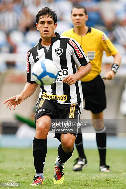 Fahel of Botafogo in action during a match against Internacional for the Brazilian Championship 2010 Serie A at the Engenhao Stadium on November 21...