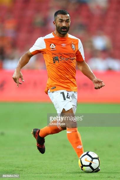 Fahid Ben Khalfallah of Roar controls the ball during the round 11 ALeague match between the Brisbane Roar and the Melbourne Victory at Suncorp...