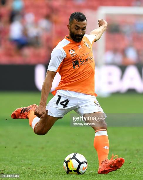 Fahid Ben Khalfallah of the Roar in action during the round three ALeague match between the Brisbane Bullets and the Newcastle Jets at Suncorp...