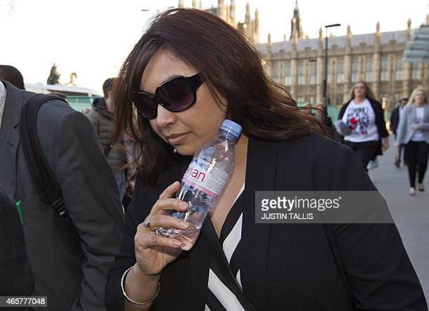 Fahmida Aziz first cousin to Khadija Sultana leaves the House of Commons Home Affairs Committee after giving evidence on the background and details...
