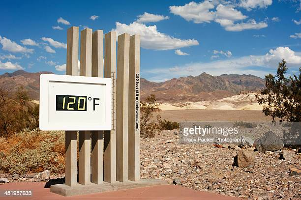 120 Fahrenheit at Furnace Creek, Death Valley.