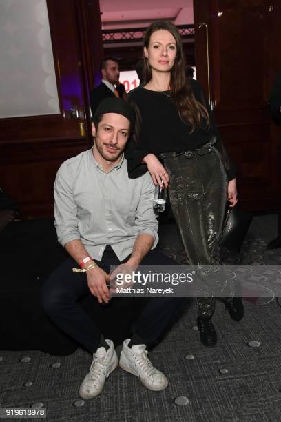 Fahri Yardim and Anna Julia Kapfelsperger attend the Medienboard BerlinBrandenburg Reception during the 68th Berlinale International Film Festival...