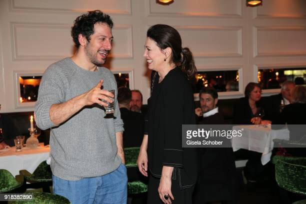 Fahri Yardim and Iris Berben during the FreundeskreisDinner at Restaurant Grace in the Hotel Zoo on February 14 2018 in Berlin Germany On the...
