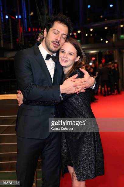 Fahri Yardim and Jasna Fritzi Bauer attend the Opening Ceremony 'Isle of Dogs' premiere during the 68th Berlinale International Film Festival Berlin...