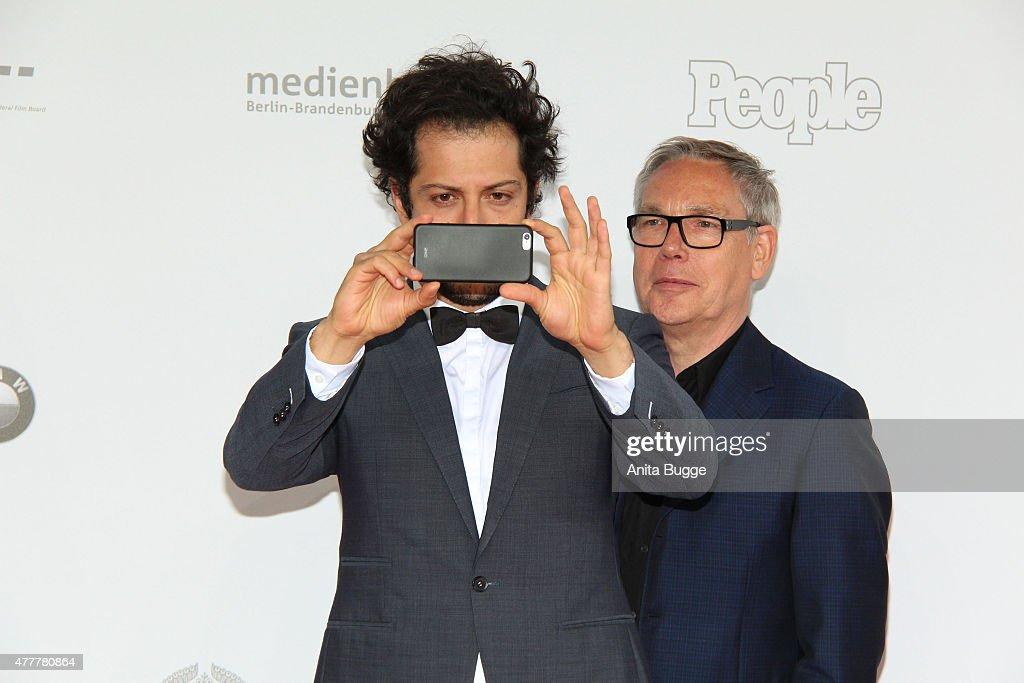 Fahri Yardim arrives to the German Film Award 2015 Lola (Deutscher Filmpreis) at Messe Berlin on June 19, 2015 in Berlin, Germany.