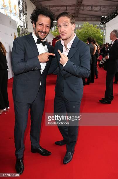 Fahri Yardim, Frederick Lau during the German Film Award 2015 Lola at Messe Berlin on June 19, 2015 in Berlin, Germany.
