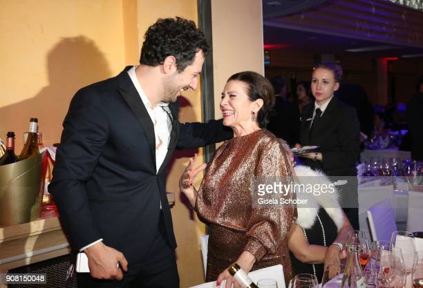 Fahri Yardim Hannelore Elsner during the German Film Ball 2018 party at Hotel Bayerischer Hof on January 20 2018 in Munich Germany