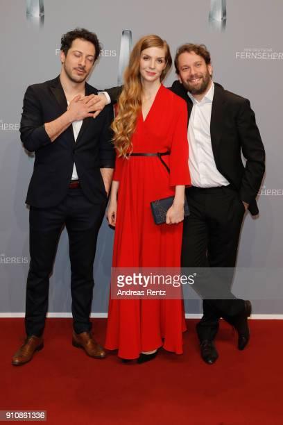 Fahri Yardim Pheline Roggan and Christian Ulmen attend the German Television Award at Palladium on January 26 2018 in Cologne Germany