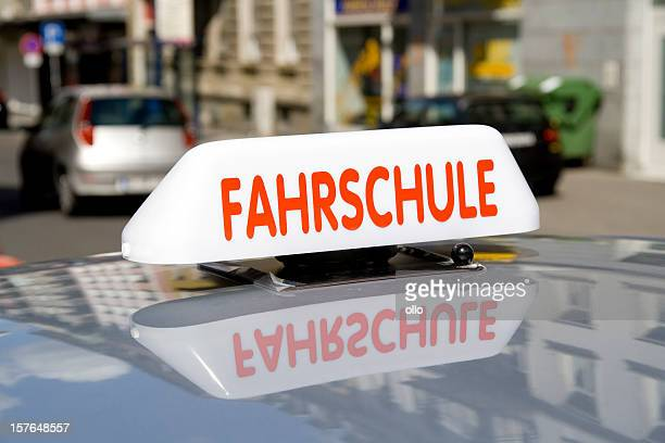 Fahrschule - german driving school car closeup