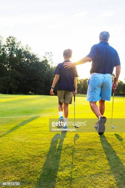 Fahter and Daughter Golf