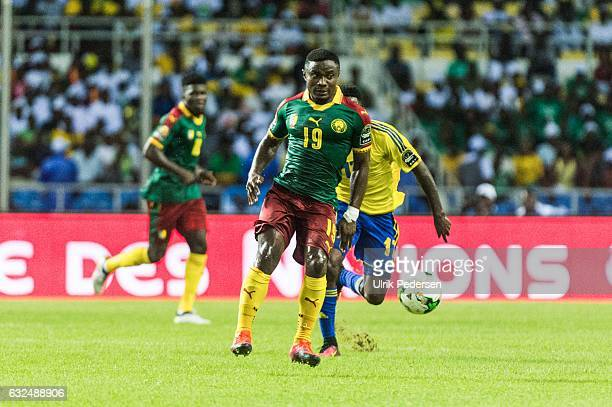 Fai Collins Ngoran Suiri of Cameroon during the African Nations Cup match between Cameroon and Gabon at Stade de L'Amitie on January 22, 2017 in...