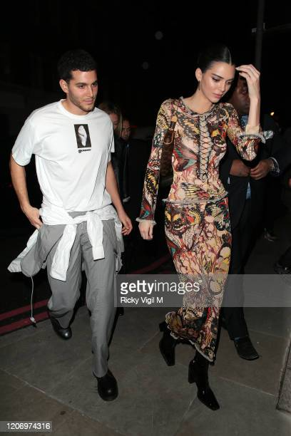 Fai Khadra and Kendall Jenner seen attending LOVE Magazine party at The Standard during LFW February 2020 on February 17 2020 in London England
