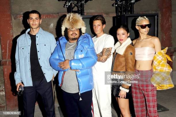 Fai Khadra Kerwin Frost Anders Gran Tiffany Meia and Jazzelle Zanaughtti attend Moncler Genius The Next Chapter Presentation during Milan Fashion...