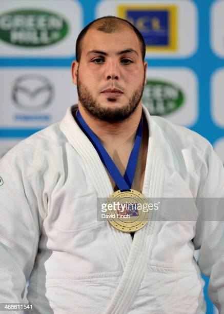 Faicel Jaballah of Tunisia after receiving the o100kg bronze medal during the Paris Grand Slam on Sunday February 09 2014 at the Palais Omnisports de...