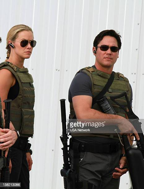 NOTICE 'Fail Safe' Episode 518 Pictured Kristanna Loken as Rebecca Anderson Dean Cain as Ryan Pewterbaugh