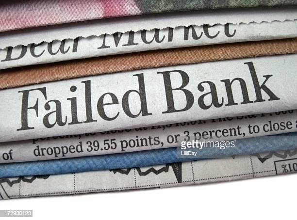 failed bank headline - failure stock photos and pictures